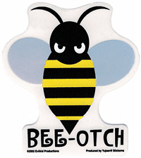 40063 Bee-Otch Bitch Bumblebee Roller Derby Bumble Bee Insect Grumpy Sticker
