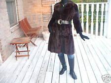 Excellent FL brown black color Mink Fur Coat Jacket S-M