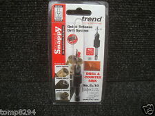 """TREND SNAPPY TCT DRILL COUNTERSINK WITH 1/4"""" HEX SHANK SNAP/CS/10TC 8 & 10"""