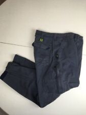 VTg 90s BUGLE BOY Blue Carpenter Casual Work Pants CONVERTIBLE TO SHORTS  32/30