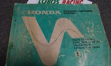 CATALOGO RICAMBI HONDA 1980 PER CX 500 - CX 500C - CX 500 D  COD. ORIG. 13470A41