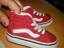 Vans White RED HIGHTOP Old Skool ZIppe Shoes Toddler Baby Size 5.0 vans off wall
