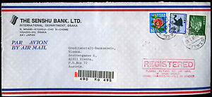 Japan 1987 Registered Commercial Cover To Austria #C39104