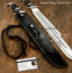 IMPACT CUTLERY RARE CUSTOM MASSIVE HEAVY DUTY D2 PREDATOR BOWIE KNIFE