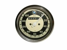 BMW REPLICA SPEEDO 0-160 KMH WHITE FACE METAL CASED FOR BMW R25 R26 & R50-51 CAD