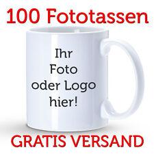100x Tassendruck, individuelle Fototassen, Tasse mit Logo, bedruckte Motivtasse