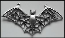PEWTER CHARM #411 BAT with filigree wings stunning 2 top bails (75mm x 40mm)