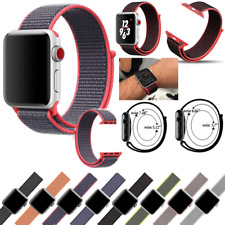 Woven Nylon Sport Loop iWatch Band Strap For Apple Watch Series 1 2 3 4 5 40/44