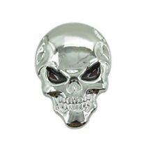 Calavera Skull 3d metal emblema Pegatina Sticker coche moto bike Skeleton