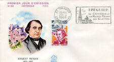 FRANCE FDC - 842 1745 3 ERNEST RENAN flamme 28 4 1973 - LUXE