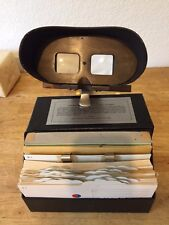 Stereoscopic Animated Fusion Training Charts 1951 w/Wooden Viewer