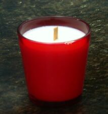 40hr CINNAMON SPICE MAPLE PUMPKIN BREAD Scent SOY WOOD WICK JAR CANDLE Red Glass