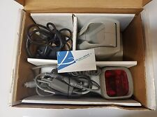 Metrologic Ms6720 Wedge Hand Held Barcode Scanner With Cable, Base & Ac Adapter