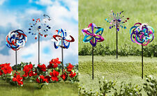 Set of 3 Festive 4th of July Metal Wind Spinner Stake Outdoor Yard Garden Home