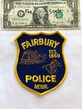Rare Fairbury Nebraska Police Patch Un-sewn in great shape