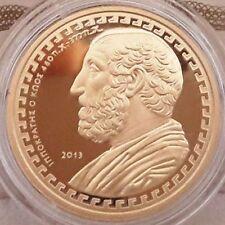 Rare █ GOLD (box+coa) 1200 pcs █ GREECE 200 Euro 2013 Hippocrates █ GRECE Grecia