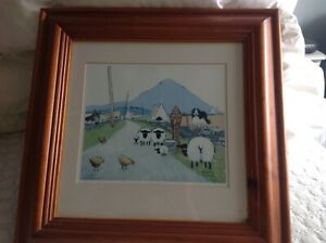 Evening at the Waterhole Thomas Joseph Print Frame 17 inches x 17 inches