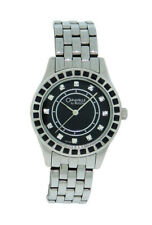Caravelle by Bulova 43L153 Women's Black & Clear Stones Round Analog Watch