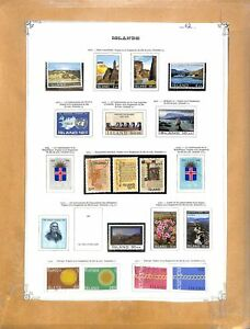 [OP3082] Iceland lot of stamps on 12 pages