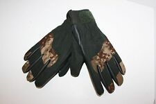 Tactical Style Working Gloves Black Tan Digital Camo Size Large Shooter Wrist