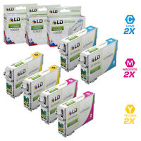 LD Reman Ink Cartridge for Epson T069 69 CMY Set of 6: T069220 T069320 T069420