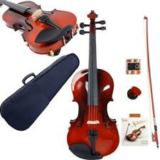 More details for 1/4 top grade students maple natural violin+case+bow+rosin+rest+string+tuner