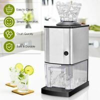 Electric Stainless Steel Ice Crusher Snow Cone Shaver Maker Machine Professional