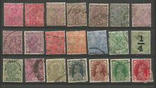 Inde Anglaise George V 1910-40 21 timbres oblitérés /T5352