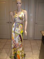 NORDSTROM Mary L Couture Charmeuse Gown with Godets Size  10 STUNNING!