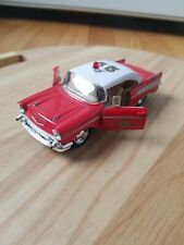 1957 Chevrolet Bel Air FIRE DEPT Die-Cast Model Car Kinsmart 1:40 Toy red