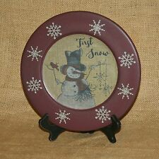 First Snow Snowman Decorative Plate On Stand Hearthside Collection