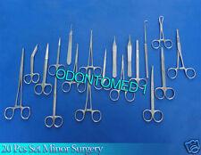 20 Pcs  Minor Surgery Surgical Instruments Set