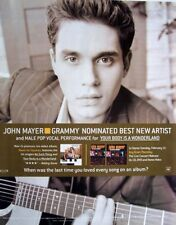 JOHN MAYER 2003 promo ADVERT GRAMMY AWARDS your body is a wonderland BEST NEW