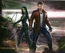 Chris Pratt / Zoe Sald Autographed Signed 8x10 Photo ( Avengers ) REPRINT