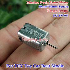 DC 6V 9700RPM Large Torque 6-Pole Rotor Minebea 10*10mm Square Mini DC Motor DIY