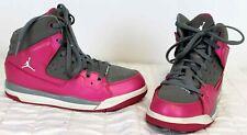Air Jordan SC-1 Girls Hi-Tops Grey/Fusion Pink Basketball Shoes Sz 1 #439656-043