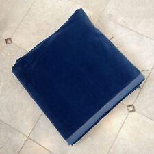 Luxurious Soft Blue Italian Cotton Blend Velvet Piece 150cm Wide x 2.5m