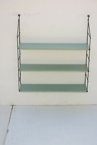 Vintage Mid Century Dutch Metal String Shelving Unit