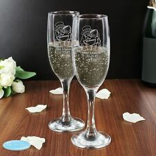 Me to You Personalised Engraved Pair Of Wedding Champagne Flutes Boxed Glasses