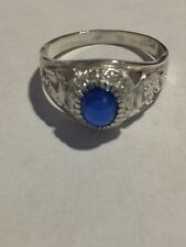 Sterling Silver Gents Stone Set College Ring