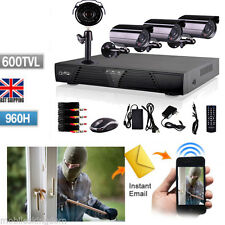 8CH 8 Channel 960H/D1 DVR Recorder 600TVL Outdoor Camera CCTV Home Security Kit