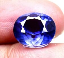 AAA Ceylon's 8.15 Ct Natural Blue Sapphire Oval Loose Gemstone Certified B1854