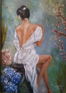 Mujer oleo lienzo