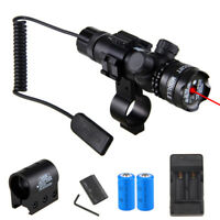 Tactical Green Red Laser Rifle Sight Scope Hunting Gun Mount +Remote Switch
