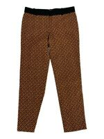 Ann Taylor Loft Womens Ankle Cropped Pants Size 0 Straight Leg Patterned I1