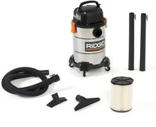 Wet/Dry Vacuum Cleaner 6gal 4HP Stainless Steel Professional Performance Cleaner