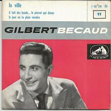 GILBERT BECAUD La ville EP LA VOIX DE SON MAITRE