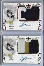 2016 Leaf Trinity C.J. Prosise 3 Color Patch Gold Foil Auto RC ND Seahawks RB