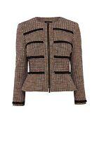 Karen Millen  Fringed Tweed Jacket/ Blazer JX051  Size 10 (RRP £199)