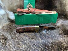 VINTAGE Puma 12 6005 4 Star Nicker Coltello Jacaranda MANIGLIA Nuovo di zecca in g/y BOX
